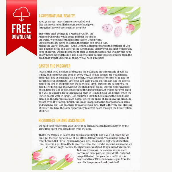 Interior preview of The Miracle of Easter free digital Christian Tract | Share The Gift — Free Christian Tracts and Printed Christian Tracts